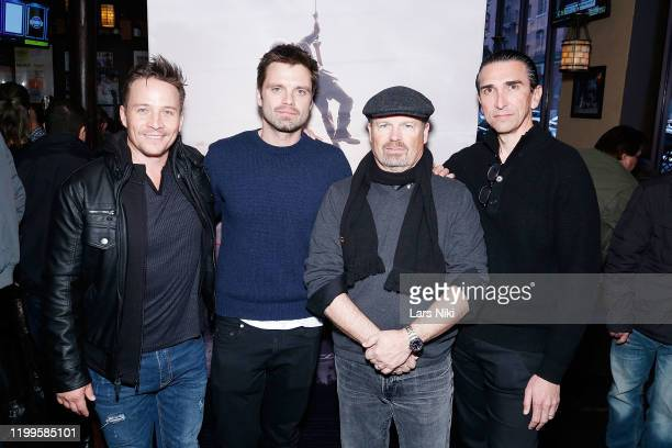Actor Travis Aaron Wade, actor Sebastian Stan, writer and director Todd Robinson and producer Sidney Sherman attend the after party for the special...