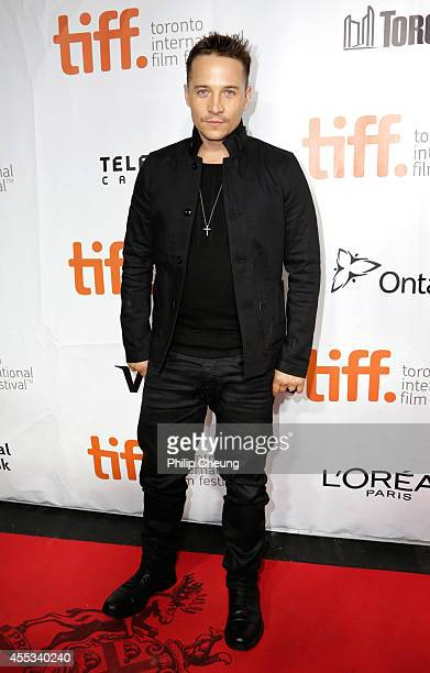 Actor Travis Aaron Wade attends The Forger premiere during the 2014 Toronto International Film Festival at Roy Thomson Hall on September 12 2014 in...