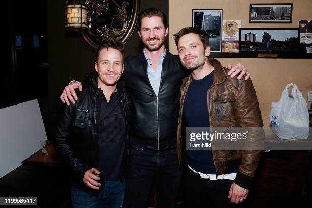 Actor Travis Aaron Wade, Operation Heal Our Heroes CEO and co-founder Everett Weston and actor Sebastian Stan attend the after party for the special...