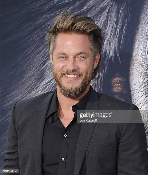 Actor Travis Fimmel arrives at the Los Angeles Premiere 'Warcraft' at TCL Chinese Theatre IMAX on June 6 2016 in Hollywood California