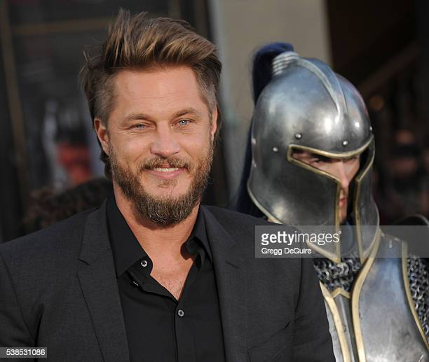 Actor Travis Fimmel arrives at the premiere of Universal Pictures' Warcraft at TCL Chinese Theatre IMAX on June 6 2016 in Hollywood California