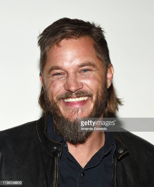 Actor Travis Fimmel attends the Finding Steve McQueen Los Angeles special screening and QA at ArcLight Hollywood on March 11 2019 in Hollywood...