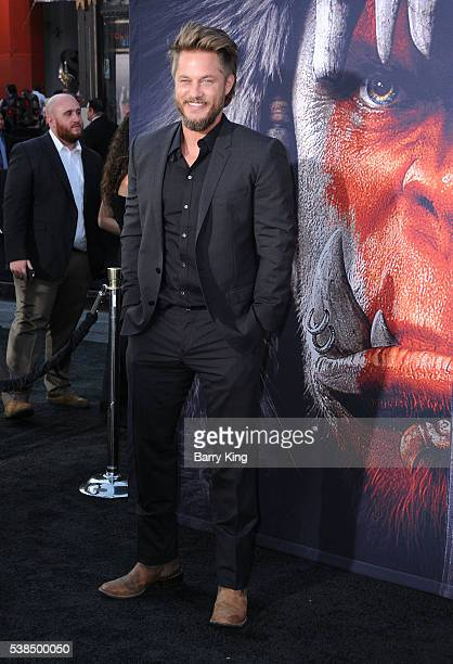 Actor Travis Fimmel attends the premiere of Universal Pictures' 'Warcraft' at TCL Chinese Theatre IMAX on June 6 2016 in Hollywood California