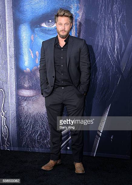Actor Travis Fimmel attends the premiere of Universal Pictures' 'Warcraft' at TCL Chinese Theatre IMAX on June 6, 2016 in Hollywood, California.