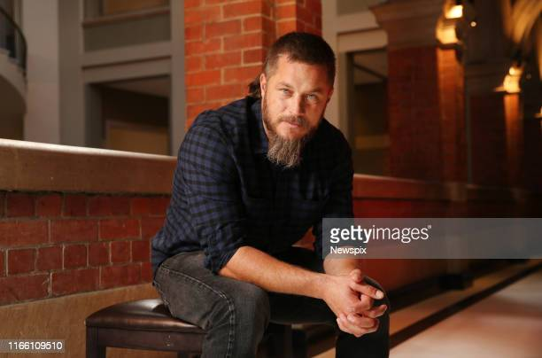 SYDNEY NSW Actor Travis Fimmel who appears in the upcoming film 'Danger Close The Battle of Long Tan' pictured at the Intercontinental Hotel in...