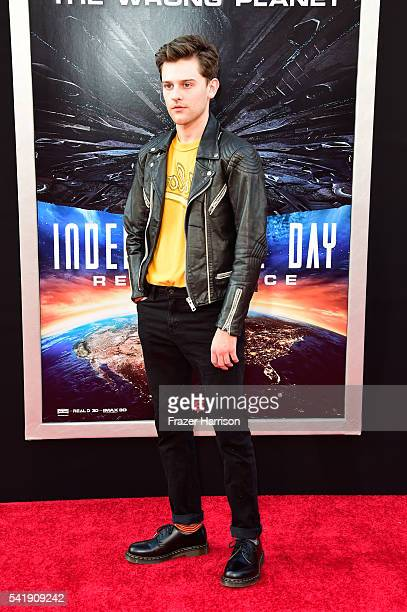 """Actor Travis Tope attends the premiere of 20th Century Fox's """"Independence Day: Resurgence"""" at TCL Chinese Theatre on June 20, 2016 in Hollywood,..."""