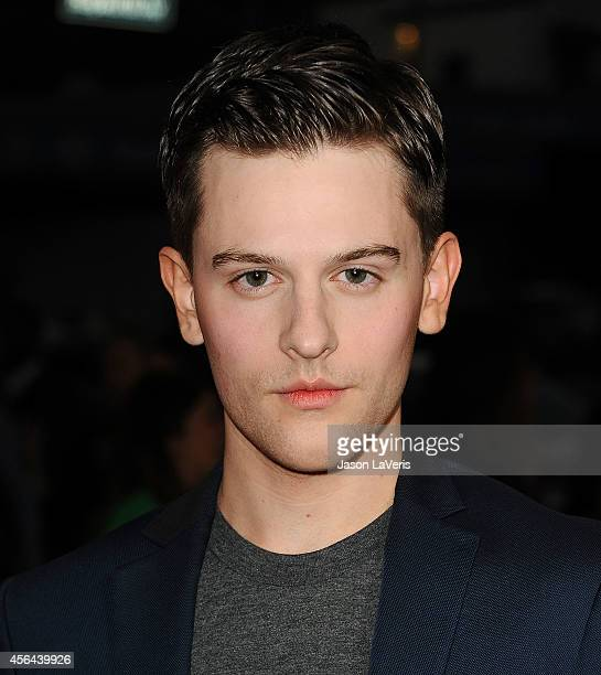"""Actor Travis Tope attends the premiere of """"Men, Women and Children"""" at DGA Theater on September 30, 2014 in Los Angeles, California."""