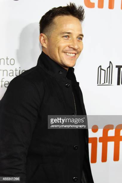 Actor Travis Wade arrives at 'The Forger' Premiere during the 2014 Toronto International Film Festival held at Roy Thomson Hall on September 12 2014...