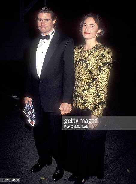 Actor Treat Williams and wife Pam Van Sant attend the 12th Annual National CableACE Awards on January 13 1991 at Wiltern Theatre in Los Angeles...