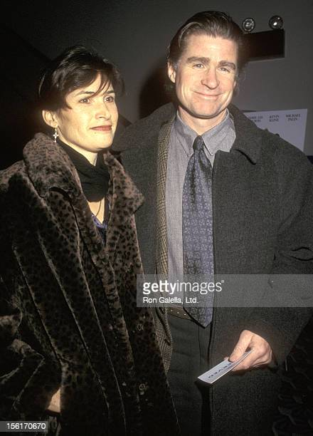 Actor Treat Williams and wife Pam Van Sant attend the 'Fierce Creatures' New York City Premiere on January 21 1997 at the Cineplex Odeon Coronet...