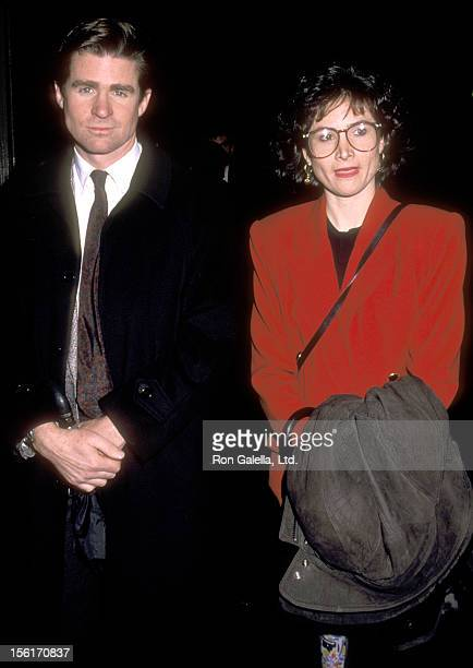 Actor Treat Williams and wife Pam Van Sant attend the Gala Tribute Honoring Vaclav Havel on February 22 1990 at The Cathedral Curch of Saint John the...