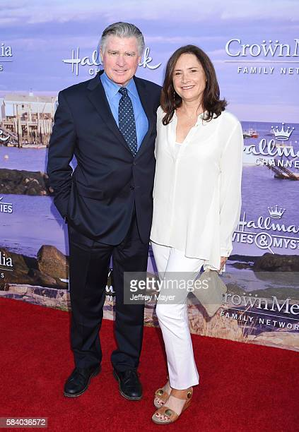 Actor Treat Williams and wife Pam Van Sant attend the Hallmark Channel and Hallmark Movies and Mysteries Summer 2016 TCA press tour event at a...