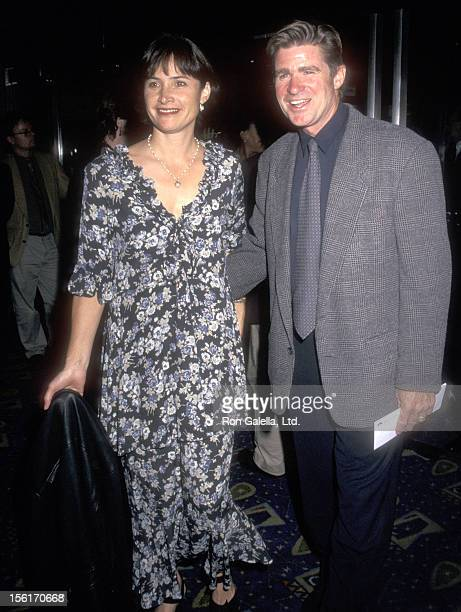 Actor Treat Williams and wife Pam Van Sant attend the 'In Out' New York City Premiere on September 15 1997 at Chelsea West Cinemas in New York City...