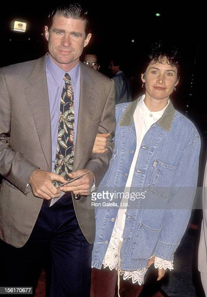 Actor Treat Williams and wife Pam Van Sant attend 'The Remains of the Day' Beverly Hills Premiere on October 25 1993 at Academy Theatre in Beverly...
