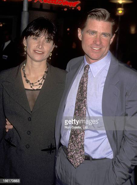 Actor Treat Williams and wife Pam Van Sant attend the 'Things to Do in Denver When You're Dead' Century City Premiere on January 30 1996 at AMC...