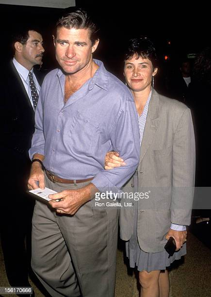 Actor Treat Williams and wife Pam Van Sant attend the 'Undercover Blues' Westwood Premiere on September 9 1993 at Mann Bruin Theatre in Westwood...