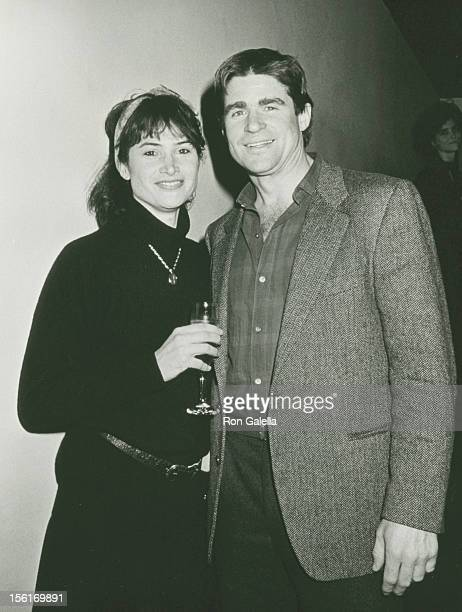Actor Treat Williams and wife Pam Van Sant attending 'Grand Opening of The Shark Bar' on February 3 1988 in New York City New York