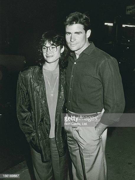 Actor Treat Williams and wife Pam Van Sant attending the performance of 'M Butterfly' on August 3 1988 in New York City New York
