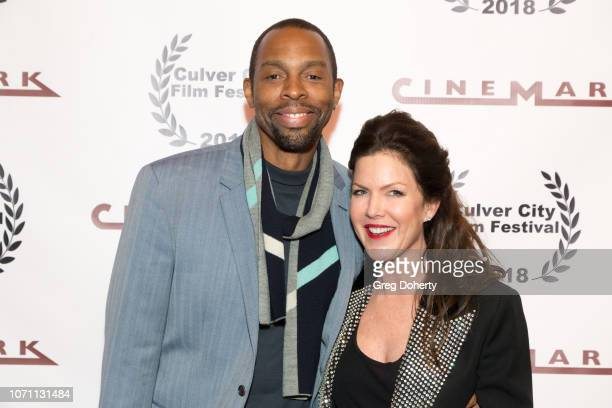 Actor Treva Etienne and Actress and Executive Producer Kira Reed Lorsch attend a screening of Acts Of Desperation At Culver City Film Festival...