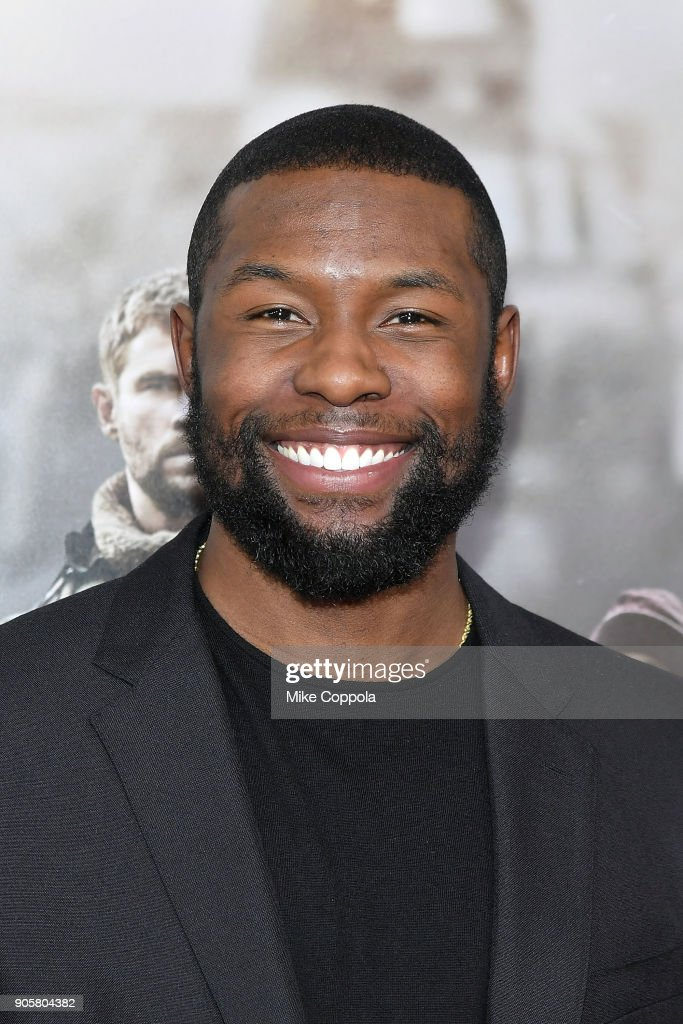 Actor Trevante Rhodes attends the '12 Strong' World Premiere at Jazz at Lincoln Center on January 16, 2018 in New York City.