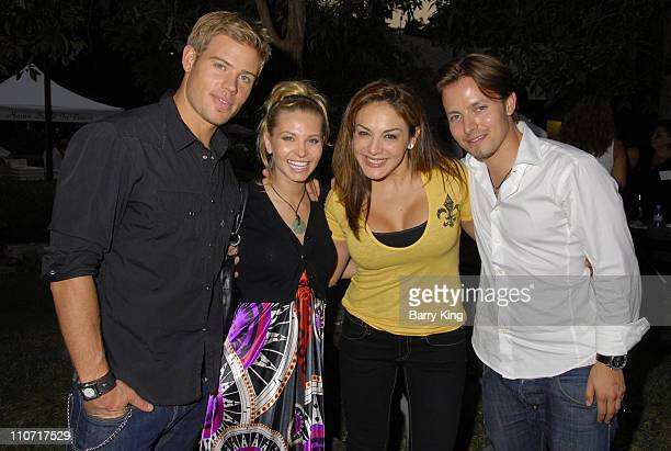 Actor Trevor Donovan actress Sonia Rockwell comic JillMichele Melean and actor Jesse McCullum attend Venice Magazine's picnic party for Thursdays are...