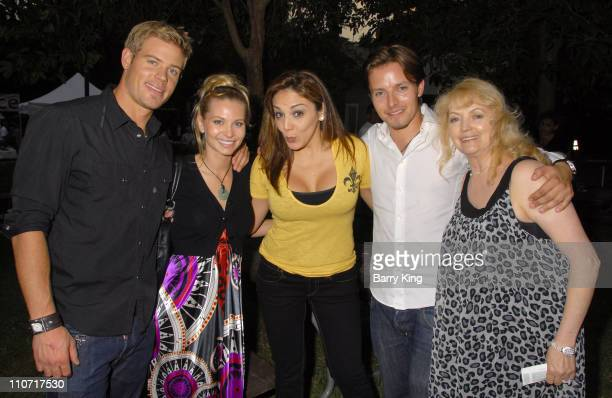 Actor Trevor Donovan actress Sonia Rockwell comic JillMichele Melean and actor Jesse McCullum and his mom Carmen McCullum attend Venice Magazine's...
