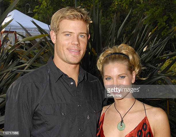 Actor Trevor Donovan and actress Sonia Rockwell attend Venice Magazine's picnic party for Thursdays are Better at the Bowl held at the Hollywood Bowl...