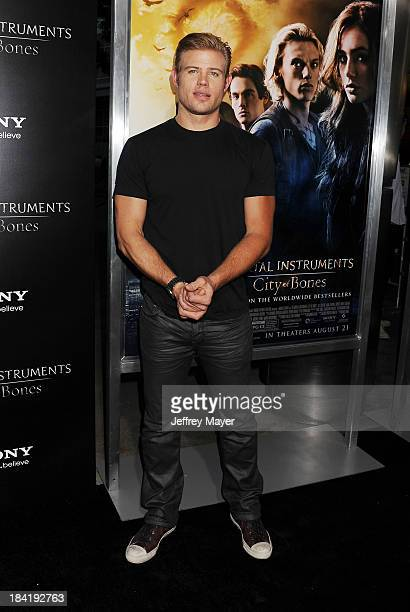 Actor Trevor Donovan arrives at the Los Angeles premiere of 'The Mortal Instruments City Of Bones' at ArcLight Cinemas Cinerama Dome on August 12...