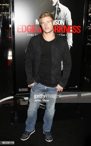 Actor Trevor Donovan attends the Edge Of Darkness Los Angeles Premiere on January 26 2010 in Los Angeles United States