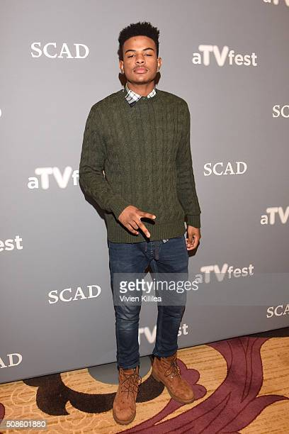 Actor Trevor Jackson attends American Crime event during aTVfest 2016 presented by SCAD on February 5 2016 in Atlanta Georgia