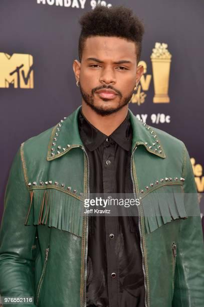 Actor Trevor Jackson attends the 2018 MTV Movie And TV Awards at Barker Hangar on June 16 2018 in Santa Monica California