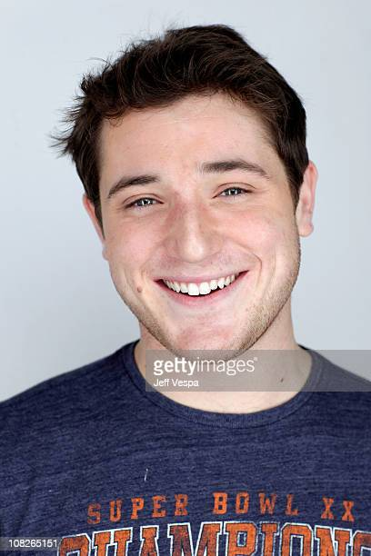 Actor Trevor Morgan poses for a portrait during the 2011 Sundance Film Festival at the WireImage Portrait Studio at The Samsung Galaxy Tab Lift on...