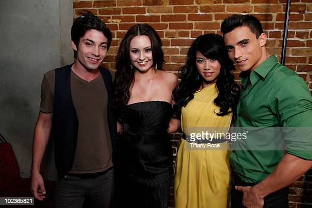 Actor Trevor Nelson actress Jillian Clare Bianka and actor Marco James attend the 'Miss Behave' Premiere Launch Party at Cinespace on June 23 2010 in...
