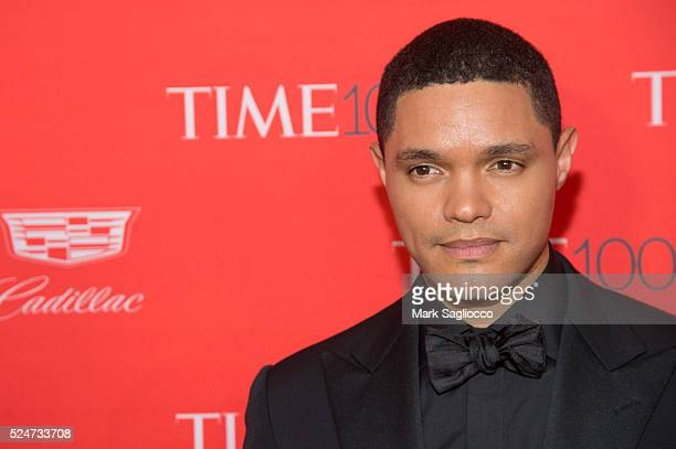 Actor Trevor Noah attends the 2016 Time 100 Gala at Frederick P Rose Hall Jazz at Lincoln Center on April 26 2016 in New York City