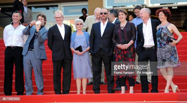 Actor Trevor Williams actor John Bishop director Ken Loach wife of the director Lesley Ashton actor Mark Womack producer Rebecca O'Brien and...