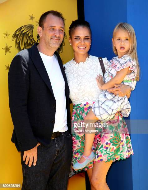 """Actor Trey Parker, Boogie Tillmon, and Betty Parker attend the premiere of Universal Pictures and Illumination Entertainment's """"Despicable Me 3"""" at..."""