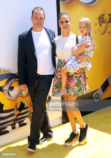 Actor Trey Parker, Boogie Tillmon and Betty Parker attend the premiere of Universal Pictures And Illumination Entertainment's 'Despicable Me 3' at...