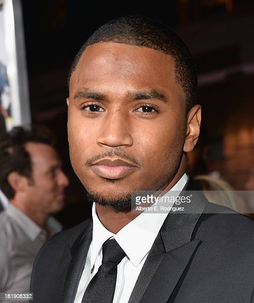 Actor Trey Songz attends the premiere of Fox Searchlight Pictures' Baggage Claim at Regal Cinemas LA Live on September 25 2013 in Los Angeles...