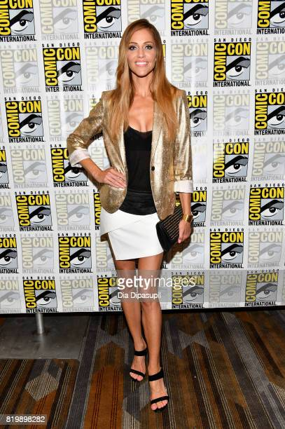 Actor Tricia Helfer at the 'Battlestar Galactica' Reunion press line during ComicCon International 2017 at Hilton Bayfront on July 20 2017 in San...
