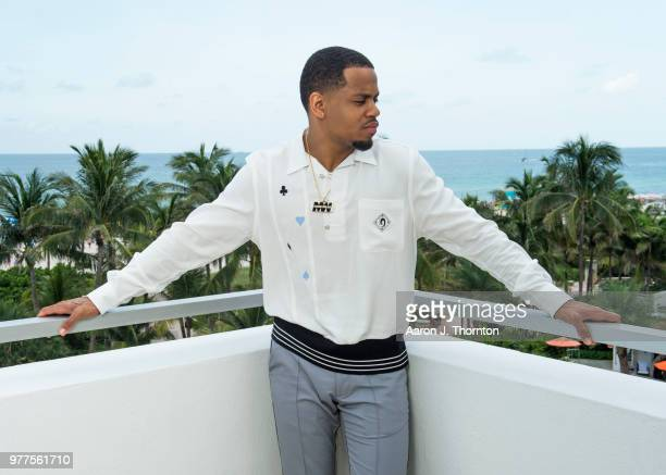 Actor Tristan Mack Wilds poses for a portrait during the 22nd Annual American Black Film Festival at the Loews Miami Beach Hotel on June 16 2018 in...