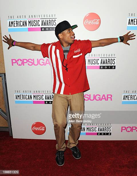 Actor Tristan Wilds attends the 40th Anniversary American Music Awards - Charity Bowl pre-party at Lucky Strike Lanes at L.A. Live on November 17,...