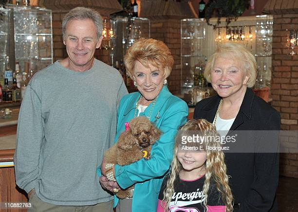 Actor Tristian Rogers actress Jeanne Cooper actress Samantha Bailey and creator Lee Phillip Bell attend CBS' The Young and the Restless 38th...