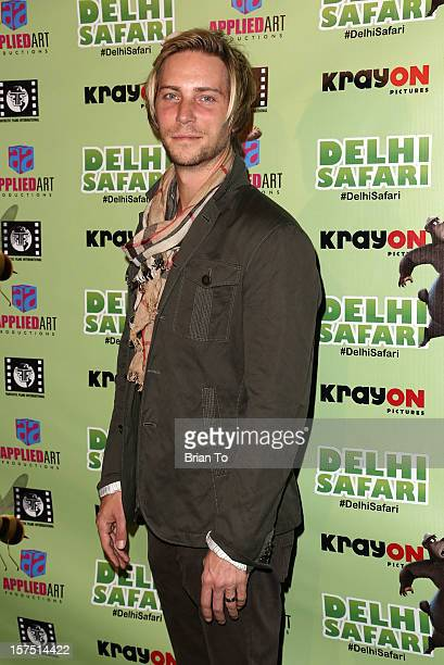 Actor Troy Baker attends 'Delhi Safari' Los Angeles premiere at Pacific Theatre at The Grove on December 3 2012 in Los Angeles California