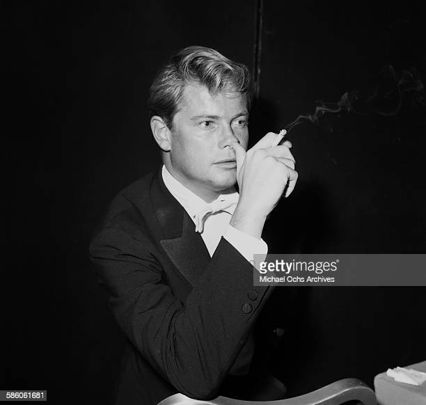 Actor Troy Donahue attends a party in Los Angeles California