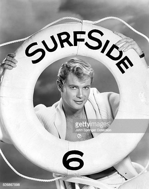 Actor Troy Donahue promotes his television series Surfside 6