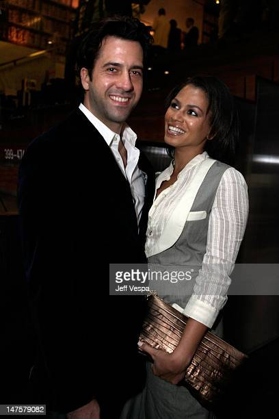 Actor Troy Garity and Simone Bent attend the Prada book launch cocktail held at Prada on Rodeo Drive on November 13 2009 in Beverly Hills California