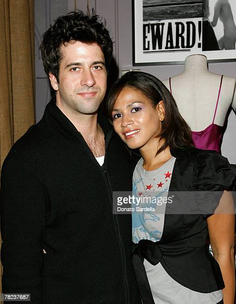 Actor Troy Garrity and Simone Bent during the Kiki De Montparnasse store opening at Kiki De Montparnasse on December 3 2007 in Los Angeles California