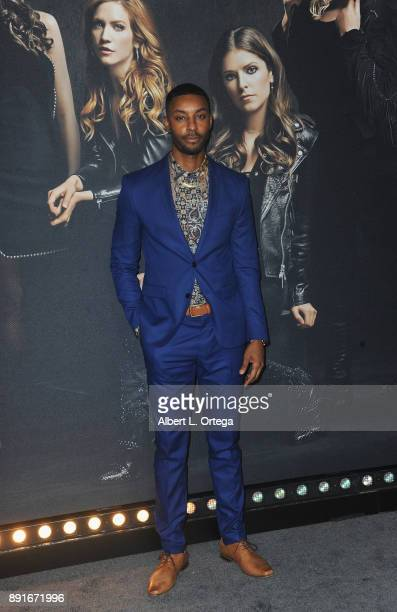 Actor Troy Ian Hall arrives for the Premiere Of Universal Pictures' 'Pitch Perfect 3' held at The Dolby Theater on December 12 2017 in Hollywood...