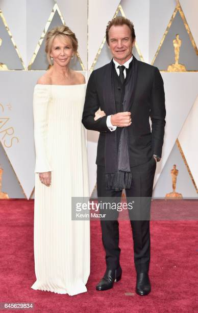 Actor Trudie Styler and musician Sting attend the 89th Annual Academy Awards at Hollywood Highland Center on February 26 2017 in Hollywood California