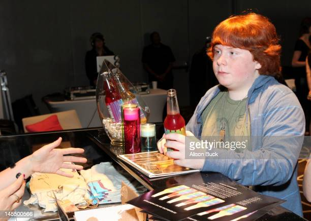 Actor Tucker Albrizzi attends Kari Feinstein's MTV Movie Awards Style Lounge at the W Hollywood on May 31 2012 in Hollywood California